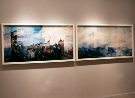 "Quintan Ana Wikswo / CATADORES Installed at Yeshiva University Museum, 2011-12. 40"" x 120\"""
