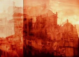 "Quintan Ana Wikswo / CATADORES: Porto Tetratych Panel 4 / Archival Print on Hahnemuhle Photo Rag / 40"" x 60\"""